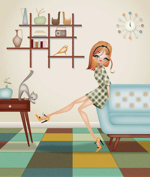 Paula_Romani-mid-century-modern-decor-illustration