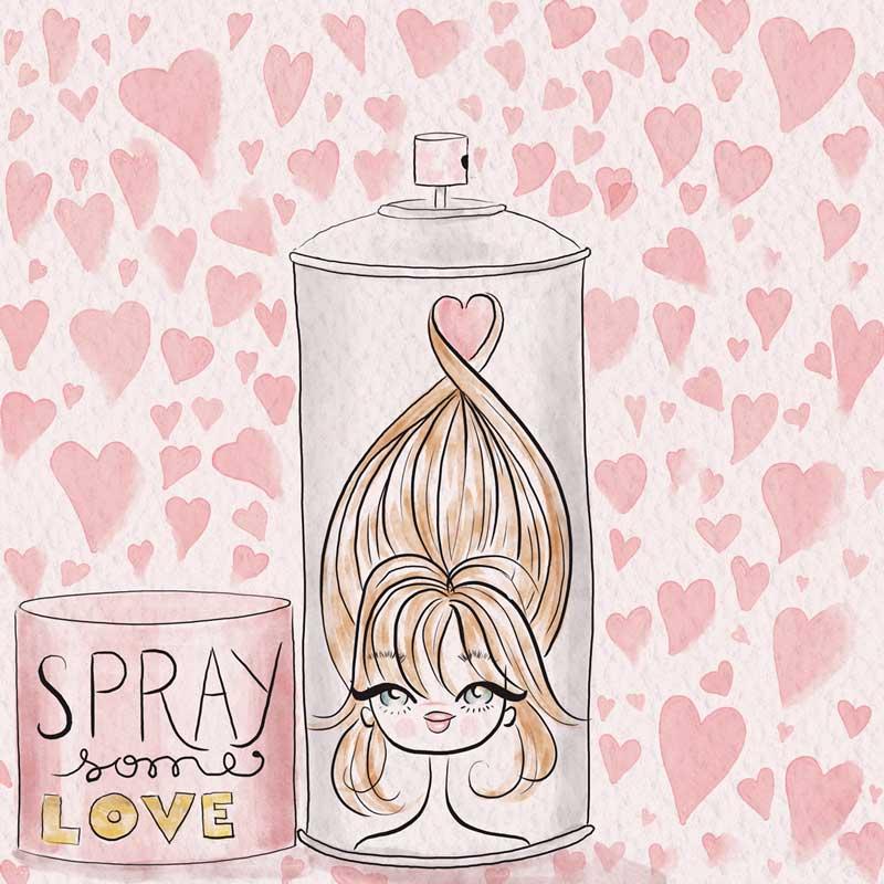 Hairstyle illustration